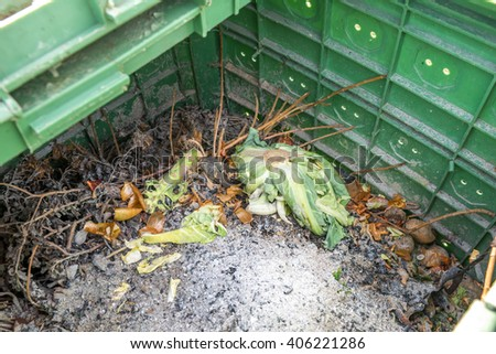 compost heap - stock photo