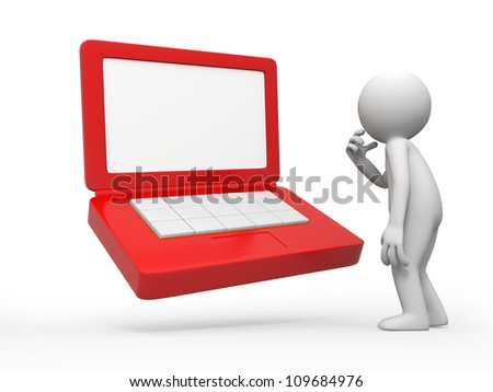 computer /a people is standing in front of a computer thinking