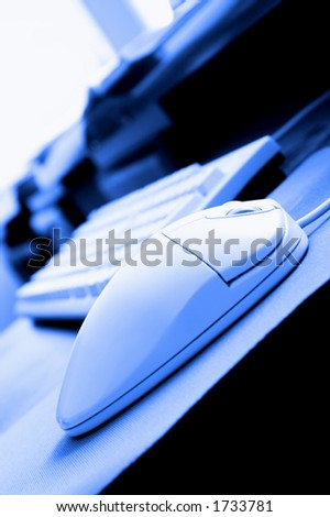 computer at office - stock photo