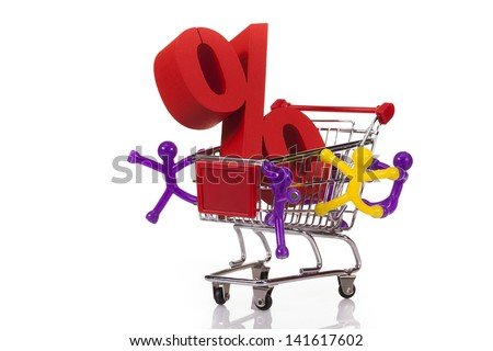 Computer, basket and free web shoping - stock photo