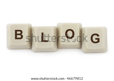 Computer buttons Blog isolated on white background - stock photo