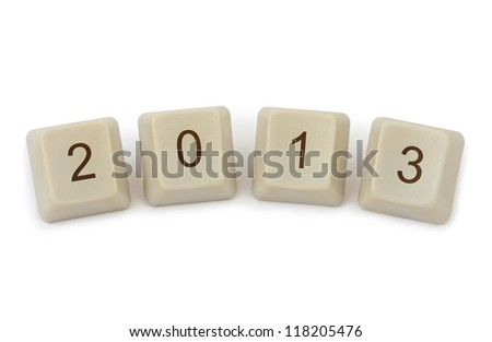 Computer buttons 2013 iisolated on white background - stock photo