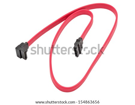 Computer Cable on white background