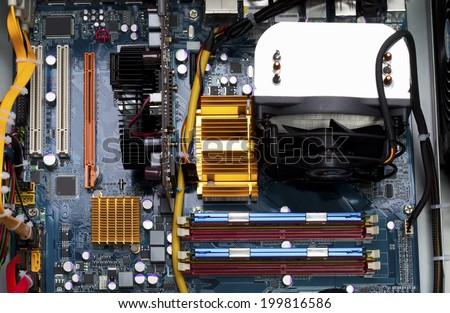 Computer, Circuit board - stock photo