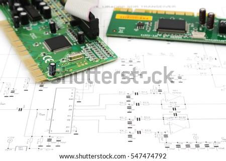 computer circuit boards electronic circuit diagram stock photo rh shutterstock com