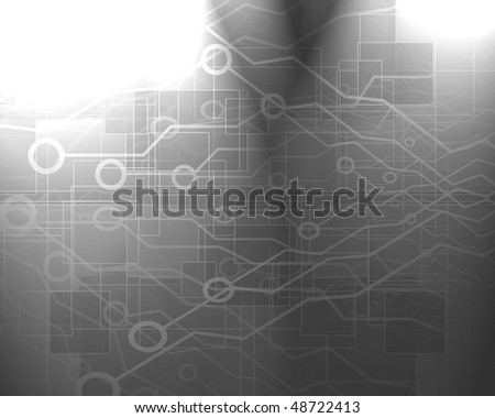 computer circuit on a soft grey background