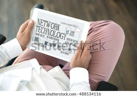 COMPUTER COMMUNICATION DATA AND NETWORK TECHNOLOGY CONCEPT