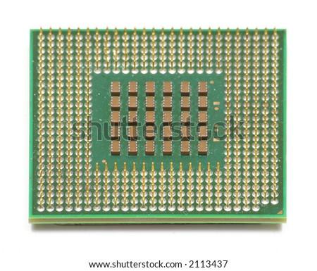 Computer CPU Chip - stock photo
