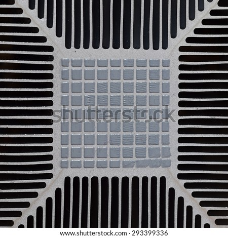 Computer CPU Heatsink And Thermal Paste  - stock photo