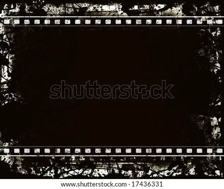Computer designed highly detailed film frame with space for your text or image.Nice grunge element for your projects