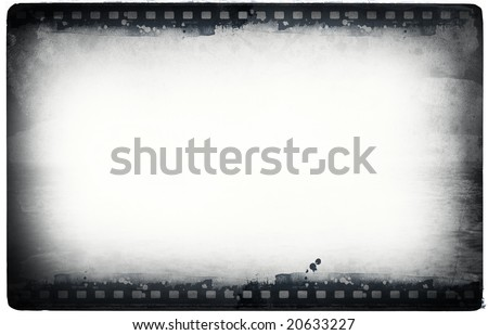 Computer designed highly detailed film frame with space for your text or image.Nice grunge element for your projects - stock photo