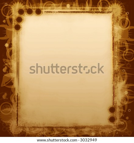Computer designed highly detailed grunge border with space for your text or image