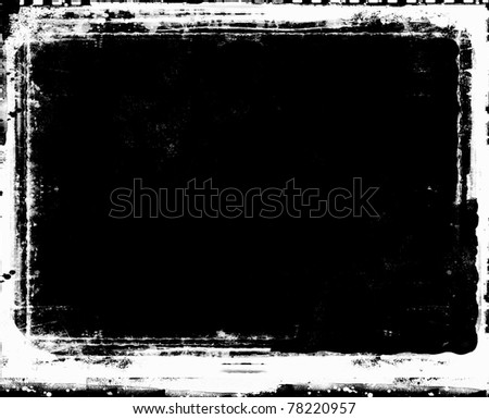 Computer designed highly detailed grunge frame  with space for your text or image. - stock photo