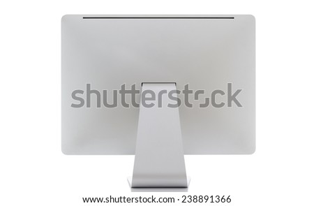 Computer display. Rear view - stock photo