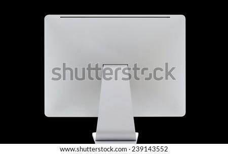 Computer display. Rear view - stock photo