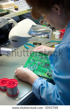 Computer engineering - stock photo