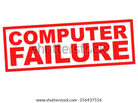 COMPUTER FAILURE red Rubber Stamp over a white background. - stock photo