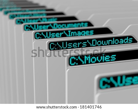 computer file system illustration