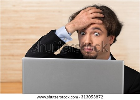 Computer Frustration. - stock photo