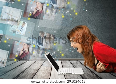 Computer, Frustration, Women. - stock photo