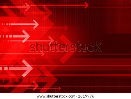 computer generated abstract background with arrows