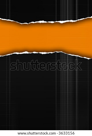 computer generated abstract background with tear-paper element - stock photo