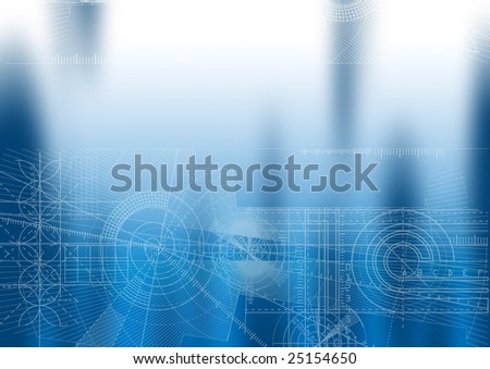 Computer generated abstract technical background. - stock photo