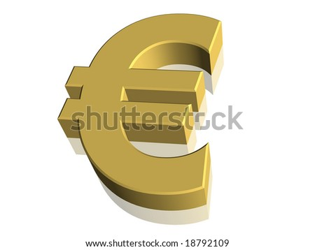 Computer generated 3D Euro currency symbol - stock photo