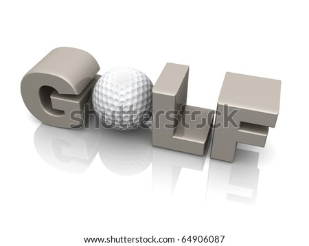 Computer Generated 3D Image - Golf . - stock photo