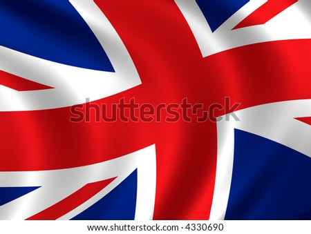Computer generated high resolution flag of United Kingdom. - stock photo