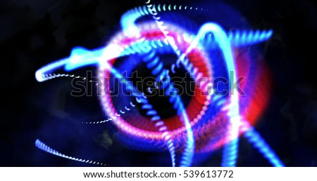 Computer generated image of mystic lights and shapes