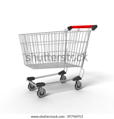 Computer generated image - Shopping Cart - stock photo