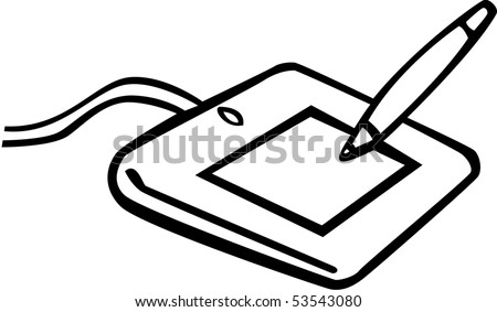computer graphics tablet - stock photo