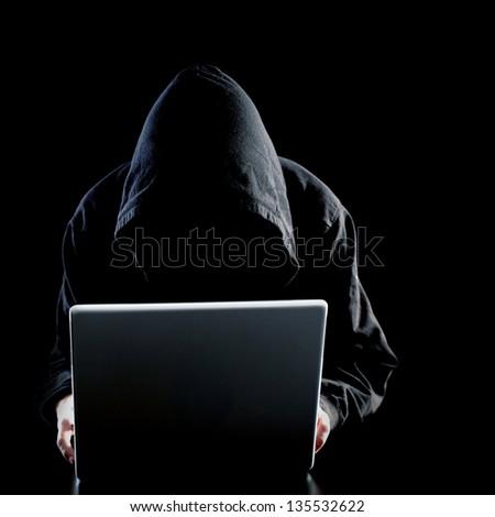 Computer hacker - stock photo