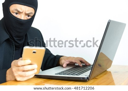 Computer hacker , he used his cell phone and computer hacking .