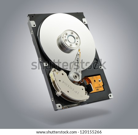 Computer hard drive. File contains a path to isolation. - stock photo