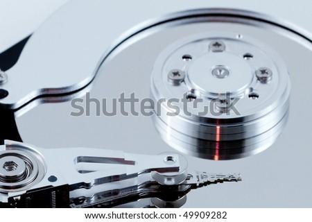 Computer harddisk drive - stock photo