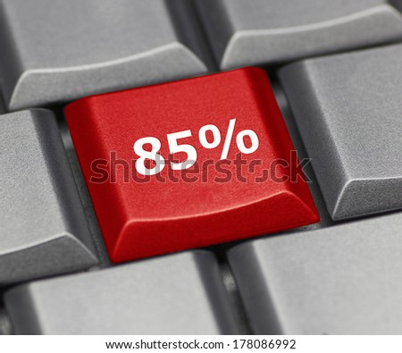 Computer key - 85% - stock photo