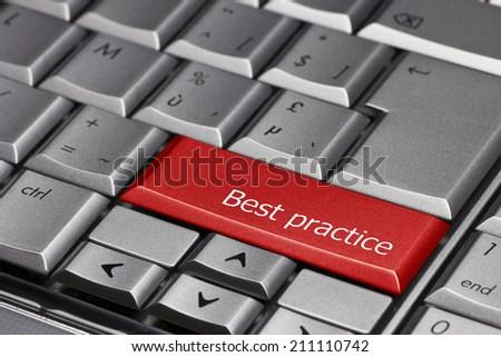 Computer key - Best practice - stock photo