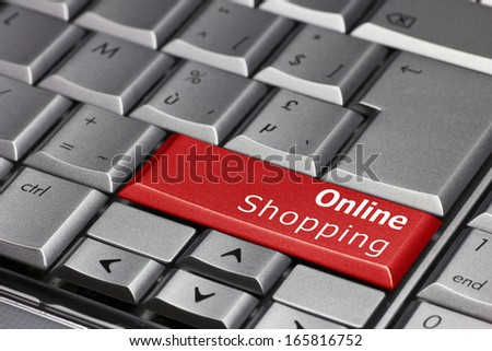 Computer Key - Online Shopping - stock photo