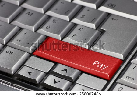 Computer key - Pay - stock photo