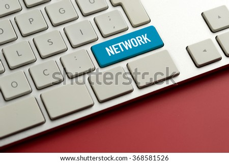 Computer key showing the word NETWORK - stock photo