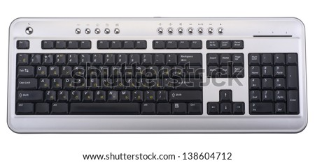 computer keyboard isolated on a white background