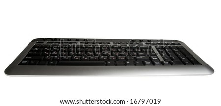 computer keyboard isolated on white