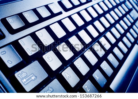 computer keyboard. Technology and internet concept background. - stock photo