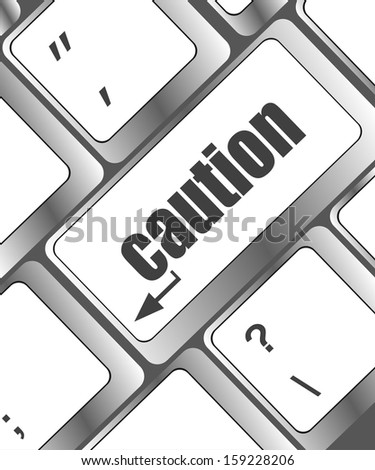 computer keyboard with a caution button, raster