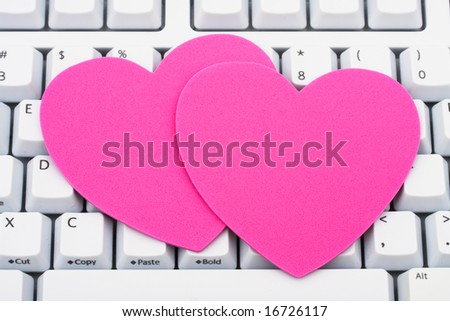 Computer keyboard with hearts â?? online dating sites