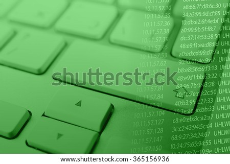 Computer keyboard with program code