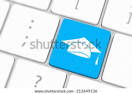 computer keyboard with word Education - stock photo