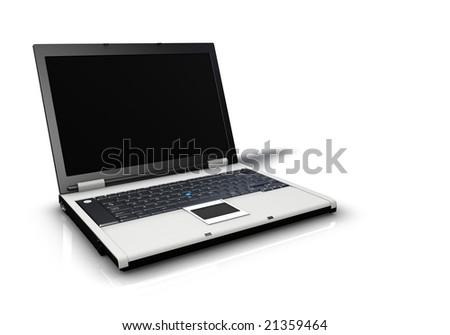 Computer Laptop Icon - stock photo